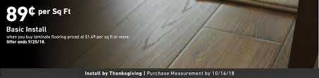 89 Cents Per Square Foot Basic Install When You Buy Laminate Flooring 149