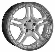22 Staggered Silver Replica Mercedes Rims Hollander 65446 (480) - UsaRim