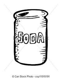 soda clipart black and white 2