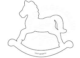 Printable Rocking Horse Template
