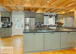 Rustic Green Kitchen With Soapstone