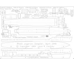 a free cardstock paper model ship plan of the sleipner class ww2