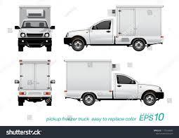 100 Freezer Truck VECTOR EPS 10 Single Cab Pickup Stock Vector Royalty Free