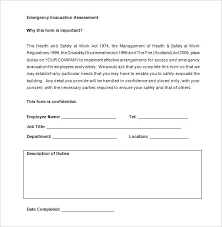 Personal Emergency Evacuation Plan Free Word Template Download Fire Safety Sample