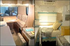 Mrs Padillys Casita Camper Glamping Makeover Bed Before After