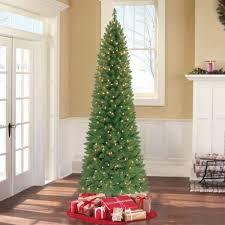 Pre Lit Christmas Tree 7ft Ultra Slim Thin Narrow Fake Skinny Prelit