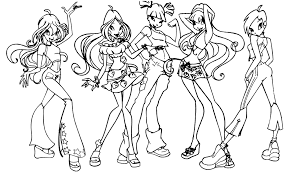 Winx Club Enchantix Coloring Pages 181