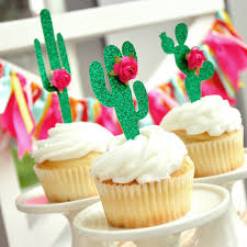Cactus Party Decor Cupcake Toppers 1 Set Of 12 Made Confetti Momma