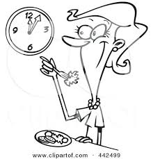 Lunch Time Clip Art Preview Black And White