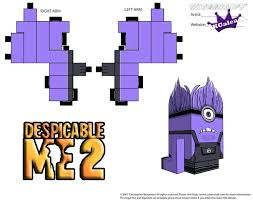 Coloring Pages Despicable Me 2 Printable Activities Evil Purple Minion Part Patterns Many Sheets