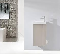 badmöbel set compact 400 für gäste wc taupe hell matt