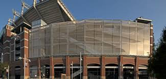 100 Architects Wings MT Bank Stadium Adds Architectural Mesh Ravens Wing Design