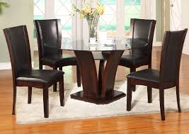 Samaritan Furniture Camelia Glass Round Dining Room Table W ...