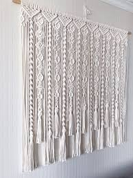 backdrop beige cotton curtain kitchen large macramé