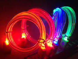 GLOW IN THE DARK light up LED USB Data Sync Cable charger FOR