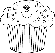 Muffin clipart black and white 9
