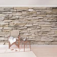 steintapete asian stonewall steinmauer aus großen hellen