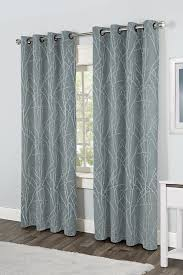 Tommy Hilfiger Curtains Cabana Stripe by Window Elements Lattice Cotton Blend Burnout Sheer X In Gray