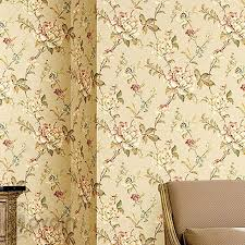 American Vintage Vine Floral Wallpaper Rustic Non Woven Green Flower Background Wall Paper Bedroom