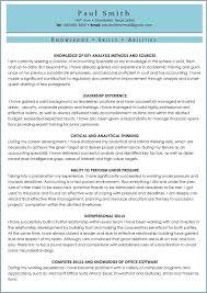 Ksas Sample Knowledge Skills Abilities Cv 30 Best Examples Of What