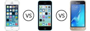 Apple iPhone 5S vs Apple iPhone 5C vs Samsung Galaxy J1 mini 2016