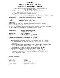 Resume Sample For Welding Inspector As Well Senior 3 2 Produce Perfect 463