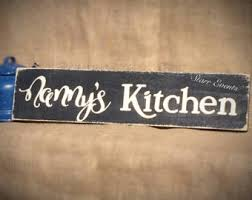 Nannys Kitchen Sign Rustic Signs Decor Custom Grandmother Rusticdecor