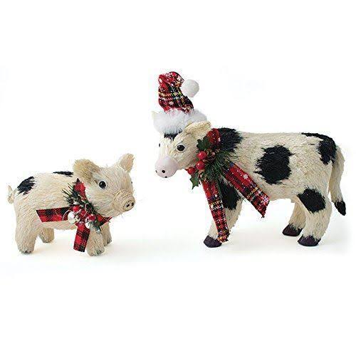 Burton and Burton Holiday Cows and Pigs Figure - 2 Assorted