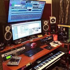 Home Studio Desk Recording Setup Music Room Basement Audio Furniture Sound