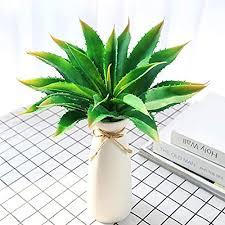 justoyou künstliche pflanzen breite grün real touch aloe vera sukkulenten stecker pflanzen für indoor outdoor garten badezimmer dekor upotted grün