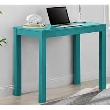 Parsons Mini Desk Aqua by Blue Desks You U0027ll Love Wayfair