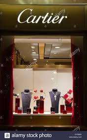 Cartier Window Store Jewelry Showcase Via Condotti Rome Italy Shopping