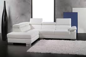 canap d angle petit format canapé d angle en cuir italien 5 places helios blanc mobilier privé