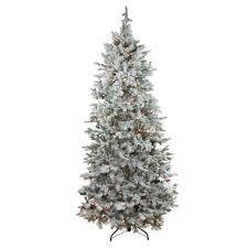 Flocked Pre Lit Pencil Christmas Tree by Pre Lit Flocked Christmas Tree Christmas Lights Decoration