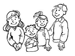 Lds Family Clipart Black And White Clipartxtras Children Praying Coloring Page