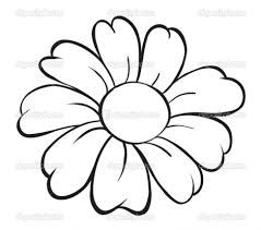 Pictures Of Drawing Flowers Coloring Pages Simple A Flower How To Draw