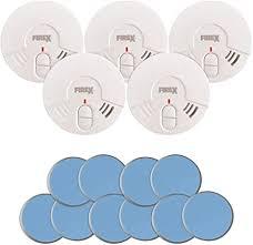 5x siter gs506 rauchmelder mit 85db alarm inkl magnethalterung und 5 jahresbatterie rauchwarnmelder brandmelder mit klebehalterung für wohnzimmer