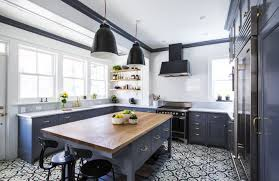 Grey And Black Patterned Vinyl Tile Flooring For Kitchen With