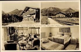 ansichtskarte postkarte tiefenbach oberstdorf im oberallgäu pension mandelsruh inh mandel sieger