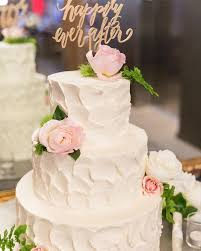 Wedding Cake Was Decorated With White Roses Maiden Hair Ferns Blush Garden Pink Astilbe And Dianthus