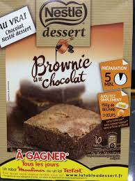 brownie au chocolat nestlé