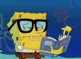 Learning Gif Spongebob Reading Smart