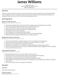 Truck Driver Resume Sample Canada New 20 Truck Driver Resume Sample ...