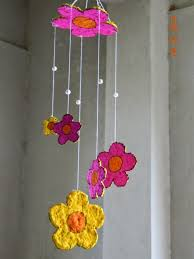 Kids With Waste Material Hanging Craft Paper Choice Image