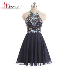 online get cheap blue sparkly prom dress short aliexpress com
