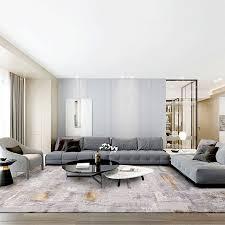 moderne minimalistischen wohnzimmer teppiche abstrakte grau gold große teppich hause nicht slip teppiche schlafzimmer nacht boden matte