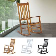 Details About Wooden Rocking Chair Porch Rocker Balcony Deck Outdoor Garden  Seat Living Room Whosale Rocking Chairs Living Room Fniture Set Of 2 Wood Chair Porch Rocker Indoor Outdoor Hcom Traditional Slat For Patio White Modern Interesting Large With Cushion Festnight Stille Scdinavian Designs Lovely For Nursery Home Antique Box Tv In Living Room Of Wooden House With Rattan Rocking Wooden Chair Next To Table Interior Make Outside Ideas Regarding Deck Garden Backyard