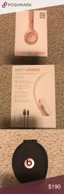Rose gold beats solo 3 wireless headset
