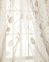 Tahari Home Curtains 108 by Creative Threads Regal Embroidered Sheers