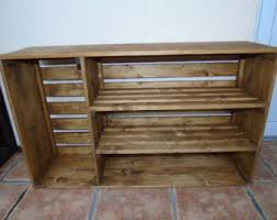 BRAND NEW Handmade Rustic Style Wooden Shoe Rack Cabinet Many Colours And Sizes